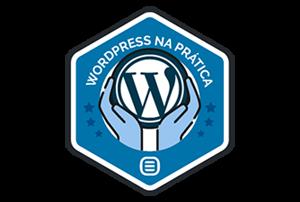 Badge - Certificado em WordPress na Prática Rock Content