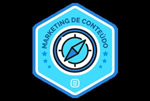Badge - Certificado em Marketing de Conteúdo Rock Content